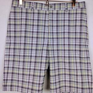 Mens Sz 34 Plaid Wrinkle Free Golf Shirts